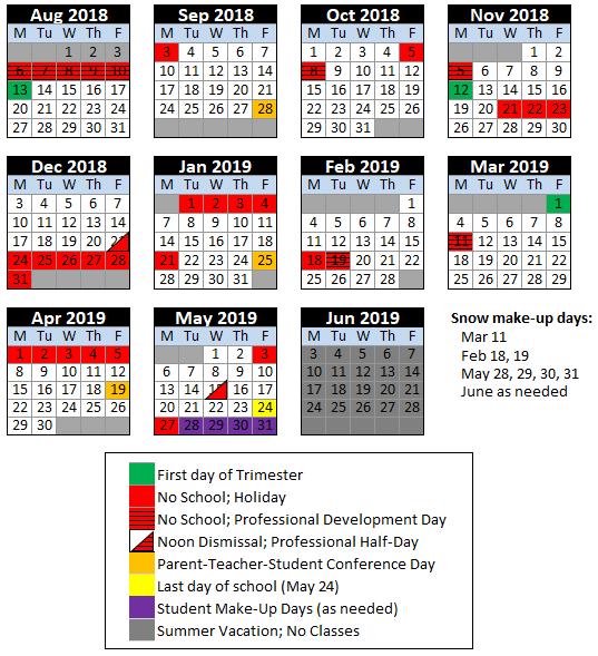 Depaul 2019 Academic Calendar Calendar & Lunch Menu | Special Needs Programs | The de Paul School