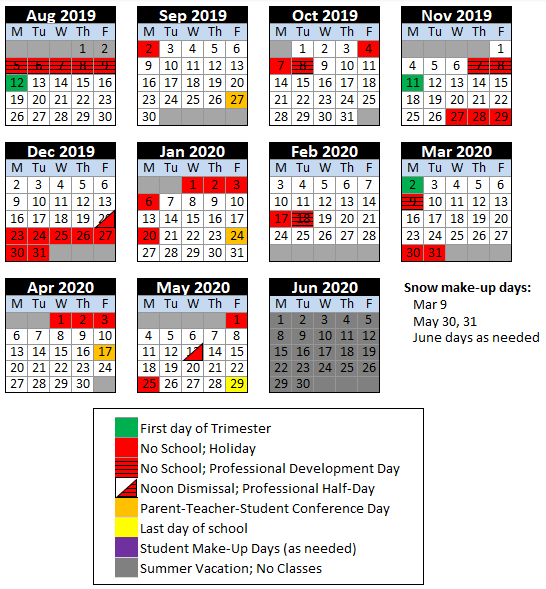 Depaul 2020 Calendar Calendar & Lunch Menu | Special Needs Programs | The de Paul School