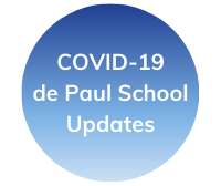 de Paul covid icon blue
