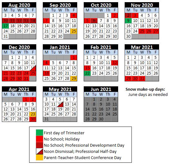 Depaul 2021-2022 Calendar Calendar & Lunch Menu | Special Needs Programs | The de Paul School
